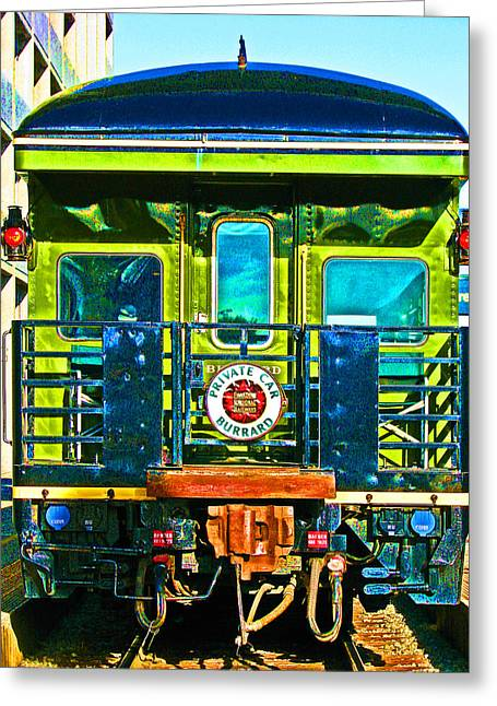 Sam Sheats Greeting Cards - Canadian Pacific Railways Private Car Greeting Card by Samuel Sheats
