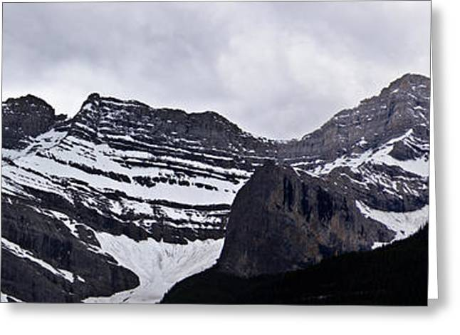 Nature Pyrography Greeting Cards - Canadian Rockies Greeting Card by Darren Langlois