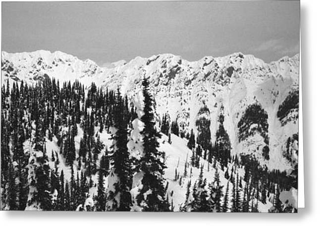 Powder Greeting Cards - Canadian Rockies Three Greeting Card by Isak Hanold