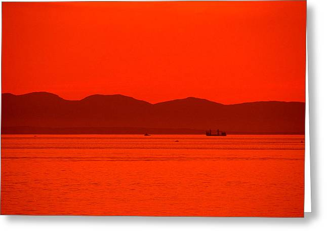 Canadian Photographer Paintings Greeting Cards - Canadian Sunset No. 03 Greeting Card by John OBrien