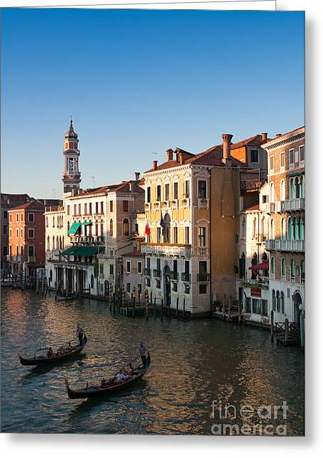 Italian Sunset Greeting Cards - Canal at Sunset Greeting Card by Andrew  Michael