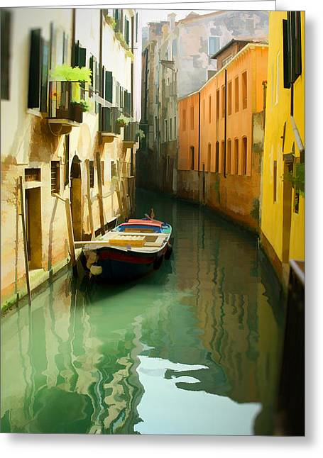 Canal Greeting Card by Photography Art