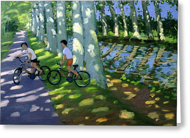 Boys Of Summer Greeting Cards - Canal du Midi France Greeting Card by Andrew Macara