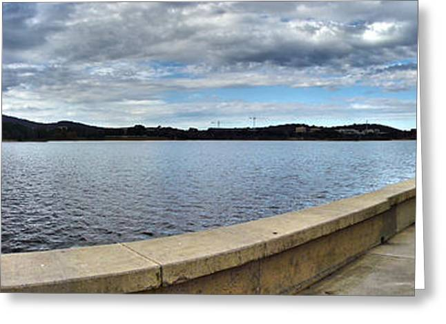 Canberra Foreshore Greeting Card by Joanne Kocwin