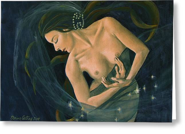 Cancer from Zodiac series Greeting Card by Dorina  Costras