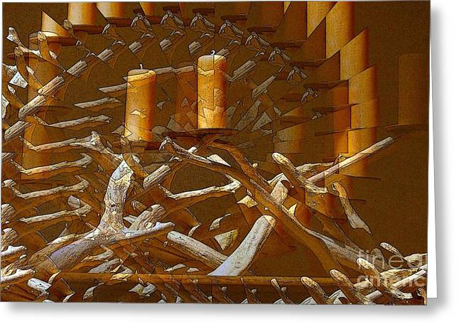 Candel Greeting Cards - Candelabra Greeting Card by Ron Bissett