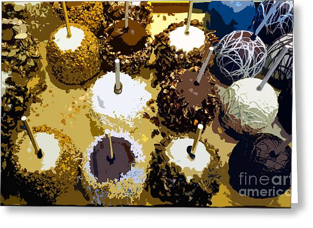 Candy Apples Greeting Cards - Candied apples Greeting Card by David Lee Thompson