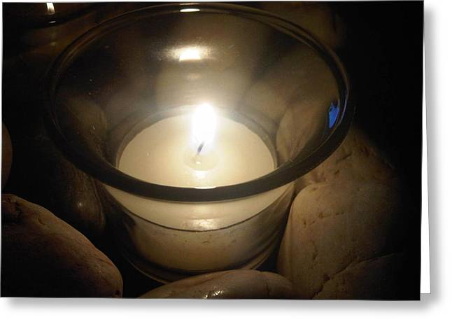Spritual Light Greeting Cards - Candle For A Friend Greeting Card by Michael Merry