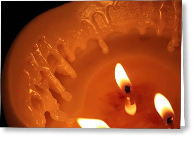 Nathan Grisham Greeting Cards - Candle Greeting Card by Nathan Grisham
