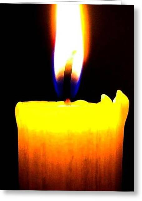 Will Power Greeting Cards - Candle Power Greeting Card by Will Borden