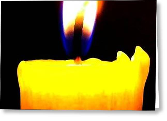 Candle Power Greeting Card by Will Borden