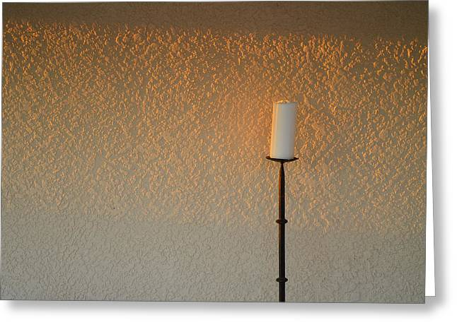 Candle Stand Greeting Cards - Candle With Fading Light Greeting Card by Thomas Hurst