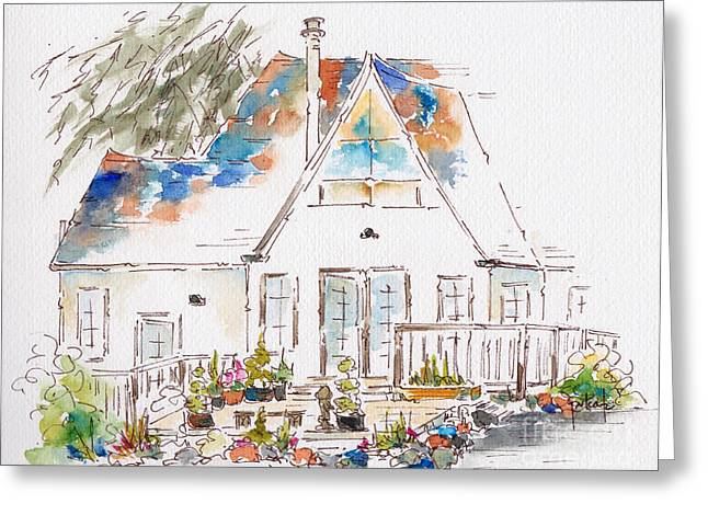 Napa Paintings Greeting Cards - Candlelight Inn Greeting Card by Pat Katz