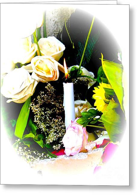 Candlelight Vigil Greeting Card by Al Bourassa