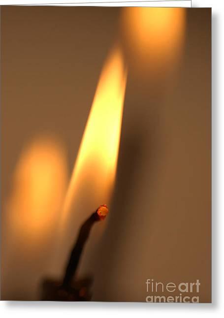 Candle Lit Greeting Cards - Candles Greeting Card by Bernard Jaubert