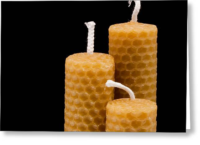 Beeswax Greeting Cards - Candles Greeting Card by Tom Gowanlock