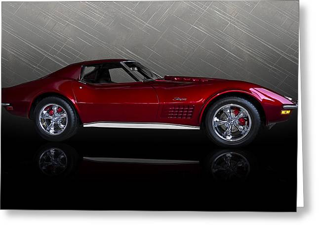 Classic Digital Greeting Cards - Candy Apple Corvette Greeting Card by Douglas Pittman