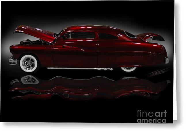 Car Art Greeting Cards - Candy Apple Sled Greeting Card by Peter Piatt