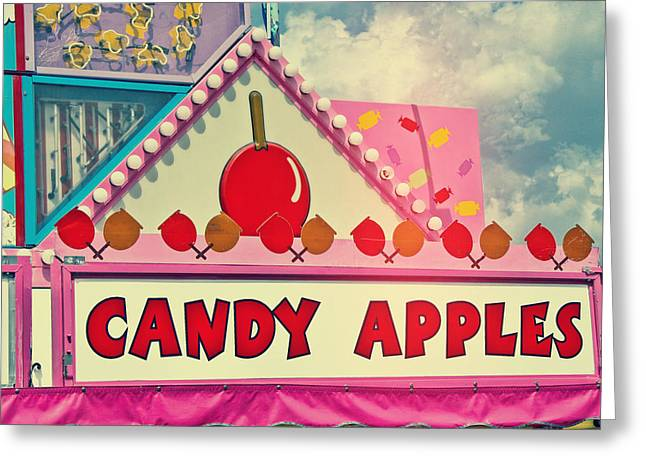 Candy Apples Greeting Cards - Candy Apples Carnival Vendor Greeting Card by Eye Shutter To Think