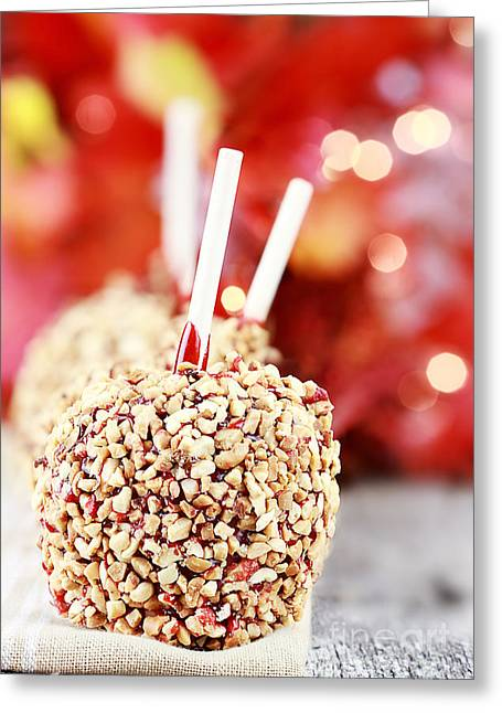 Candy Apples Greeting Cards - Candy Apples Greeting Card by Stephanie Frey