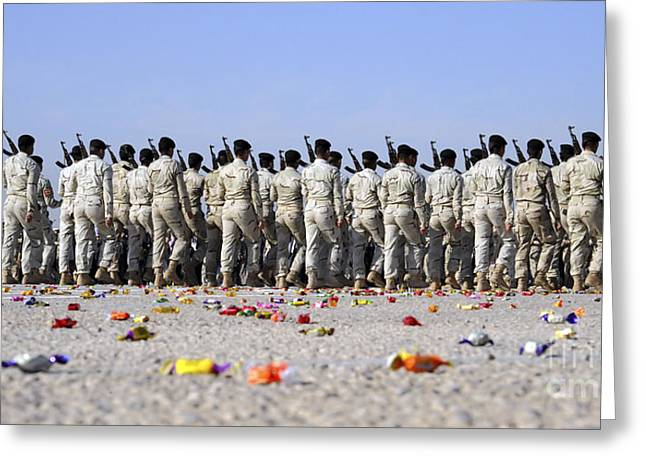 Cadet Greeting Cards - Candy Covers The Parade Grounds Greeting Card by Stocktrek Images