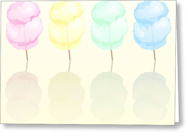 Food Digital Greeting Cards - Candy floss Greeting Card by Jane Rix