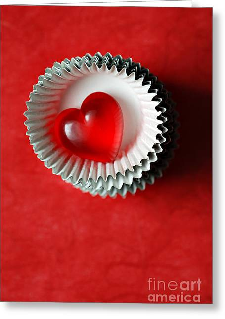 Elevated Greeting Cards - Candy Heart Greeting Card by HD Connelly