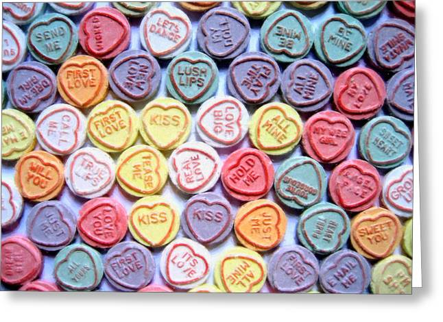 Sweet Greeting Cards - Candy Love Greeting Card by Michael Tompsett