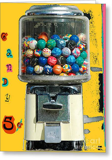 Sour Greeting Cards - Candy Machine Greeting Card by aDSPICE sTUDIOS Kids