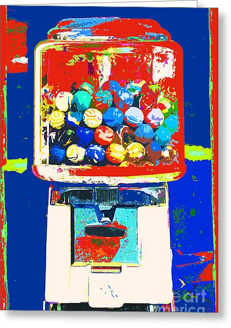 Juvenile Wall Decor Greeting Cards - Candy Machine Pop Art Greeting Card by ArtyZen Kids