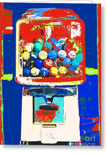 Candy Machine Pop Art Greeting Card by ArtyZen Kids