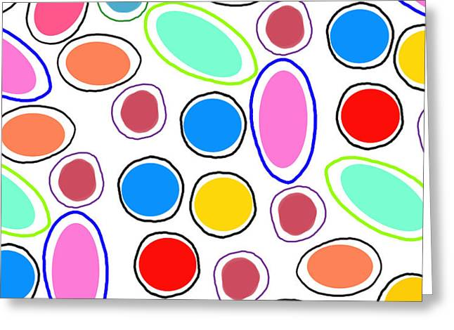 Candy Spots Greeting Card by Louisa Knight