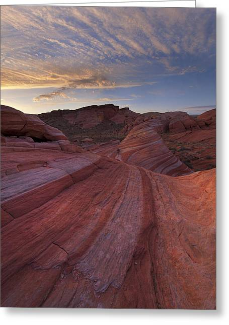 Valley Of Fire Nevada Greeting Cards - Candy Stripes Greeting Card by Joseph Rossbach