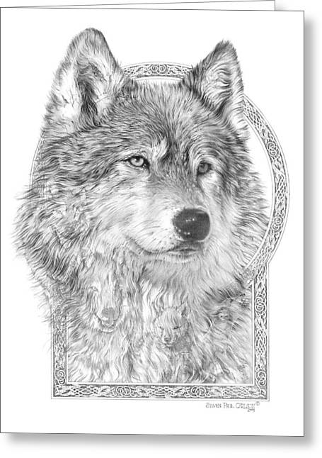 Canis Greeting Cards - Canis lupus IV - Wolf Pack  Alpha Leader Greeting Card by Steven Paul Carlson