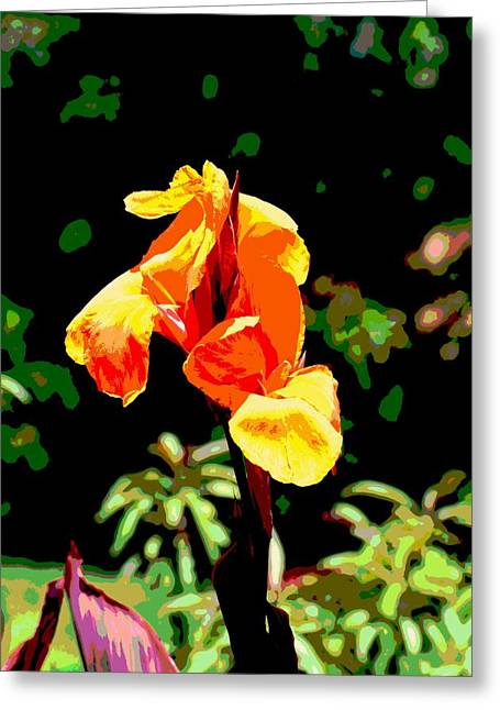 Canna Mixed Media Greeting Cards - Canna in Summer Greeting Card by Dorrie Pelzer