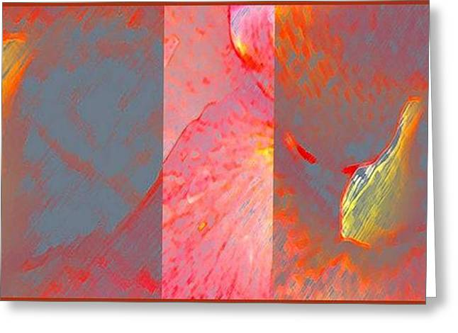 Canna Digital Art Greeting Cards - Canna Lily Abstract Greeting Card by Gretchen Wrede