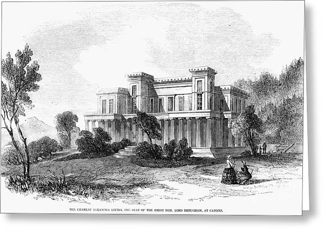 Henry Brougham Greeting Cards - Cannes: Chateau, 1856 Greeting Card by Granger