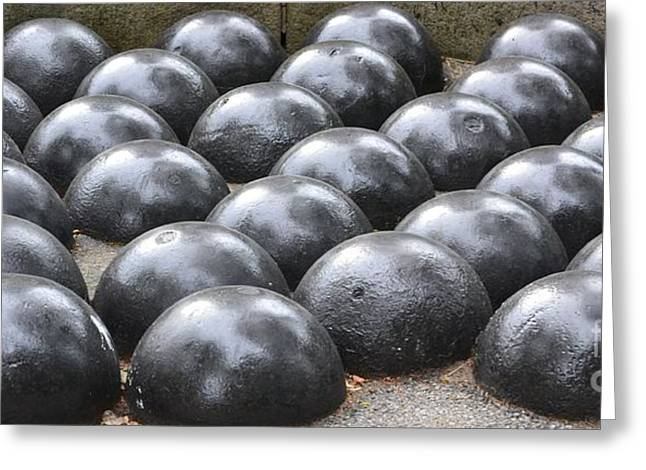 Closup Greeting Cards - Cannon Balls Greeting Card by Artie Wallace