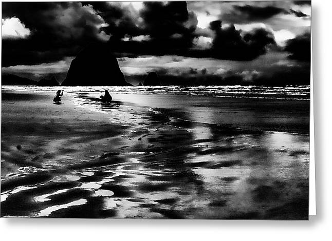 Monolith Greeting Cards - Cannon Beach at Dusk Greeting Card by David Patterson