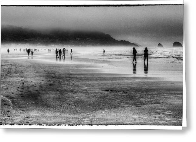 Lanscape Greeting Cards - Cannon Beach Fog Greeting Card by David Patterson