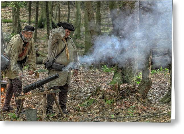Rogers Rangers Greeting Cards - Cannon in the Forest Greeting Card by Randy Steele