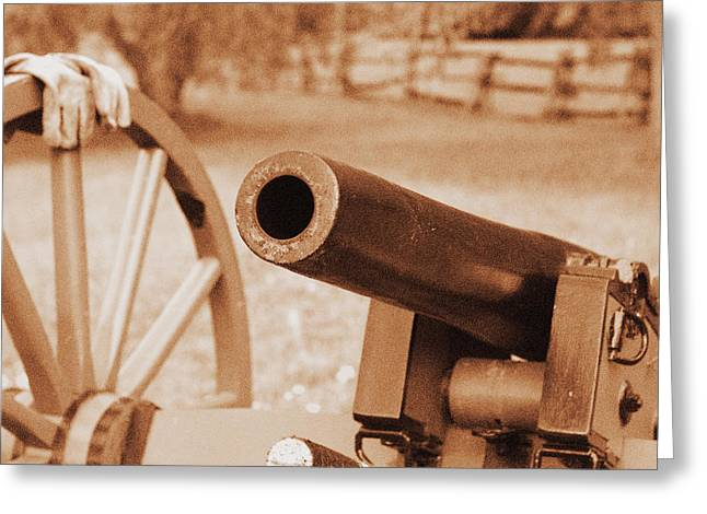Cannon Ready Greeting Card by Jonathan Bateman