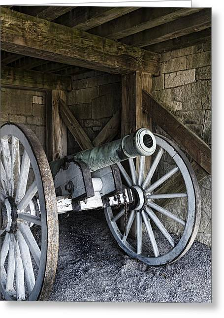 Blacksmiths Greeting Cards - Cannon Storage Greeting Card by Peter Chilelli