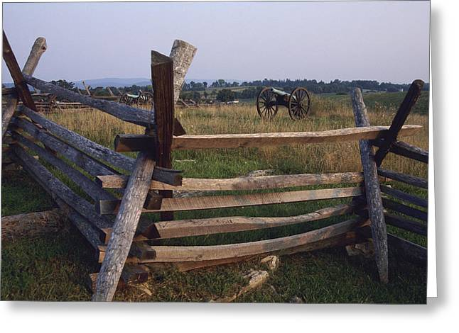 Cannons At Antietam National Greeting Card by Raymond Gehman