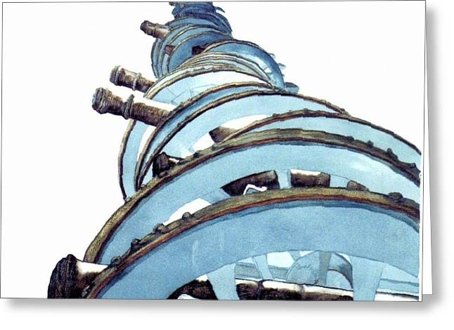 Revolutionary War Mixed Media Greeting Cards - Cannons at Valley Forge Greeting Card by Saundra Lee York