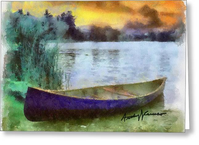 Canoe Greeting Cards - Canoe Greeting Card by Anthony Caruso