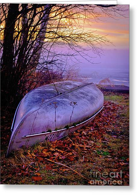 Canoe Photographs Greeting Cards - Canoe At Rest Greeting Card by Shutter Happens Photography