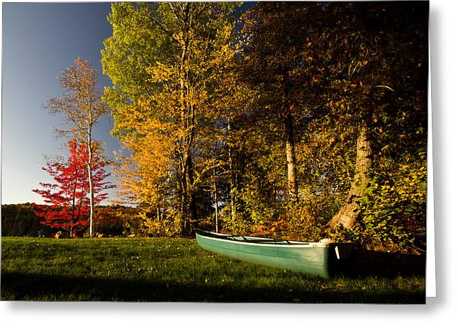Canoe Greeting Card by Cale Best