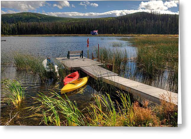 Canoe Greeting Cards - Canoe Canada Greeting Card by Peter Olsen