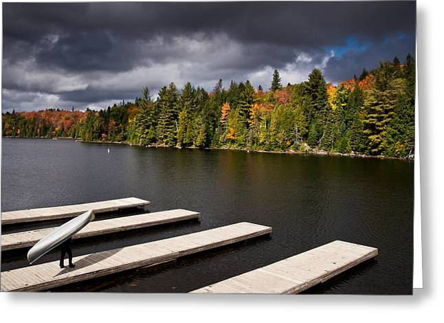 Canoe Greeting Cards - Canoe Lake Greeting Card by Cale Best